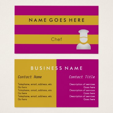 "Beach Themed ""Flags"" Chef Business Cards"