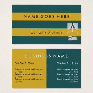 """""""Flags"""" Curtains and Blinds Business Cards"""