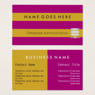 """""""Flags"""" Database Administrator Business Cards"""
