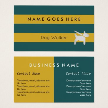 "Professional Business ""Flags"" Dog Walker Business Cards"
