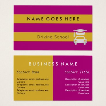 "Beach Themed ""Flags"" Driving Instructor Business Cards"