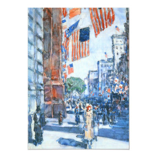 Flags Fifth Avenue by Childe Hassam, Vintage Art Card