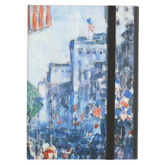 Flags Fifth Avenue by Childe Hassam, Vintage Art iPad Air Cover