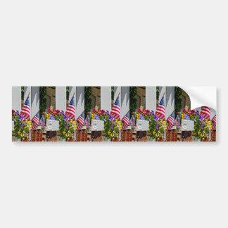 Flags + Flowers Bumper Sticker