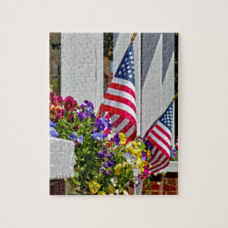 Flags + Flowers Jigsaw Puzzle