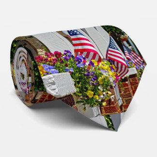 Flags + Flowers Neck Tie