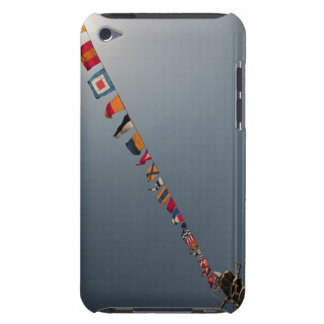 Flags fly over the deck of the USS Iwo Jima Case-Mate iPod Touch Case