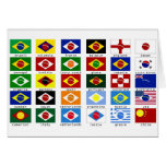 flags for the world cup in Brazil Greeting Card