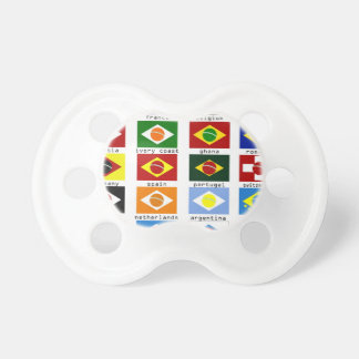 flags for the world cup in Brazil Pacifier