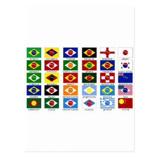 flags for the world cup in Brazil Post Cards