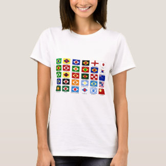 flags for the world cup in Brazil T-Shirt