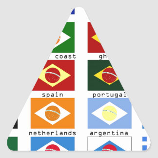 flags for the world cup in Brazil Triangle Sticker