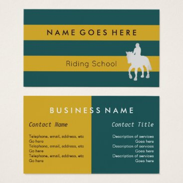 """Beach Themed """"Flags"""" Horse Riding Business Cards"""
