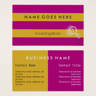 """""""Flags"""" Investigator Business Cards"""
