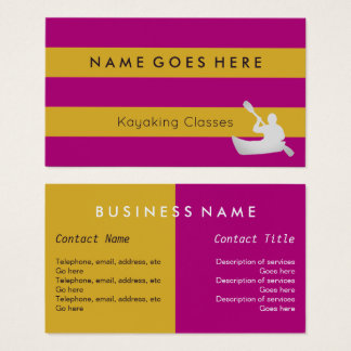 """Flags"" Kayaking Business Cards"