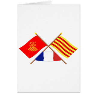Flags Languedoc-Roussillon & Pyrénées-Orientales Card