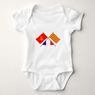 Flags Languedoc-Roussillon & Pyrénées-Orientales Infant Creeper