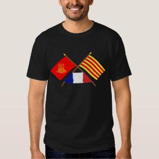 Flags Languedoc-Roussillon & Pyrénées-Orientales T Shirt