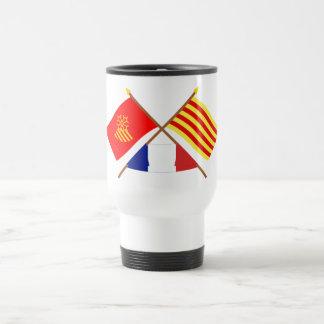 Flags Languedoc-Roussillon & Pyrénées-Orientales Travel Mug