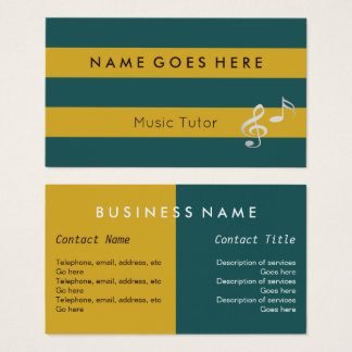 """""""Flags"""" Music Tutor Business Cards"""