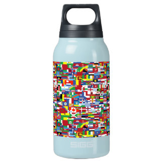 Flags of All Nations Insulated Water Bottle