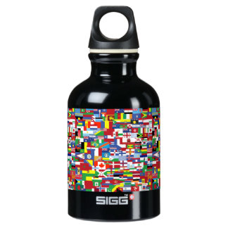 Flags of All Nations Water Bottle