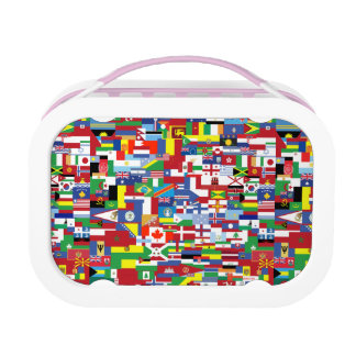 Flags of All Nations Yubo Lunchboxes
