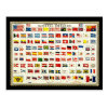Flags of Countries - Vintage Chart Postcard