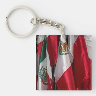 Flags of Mexico Double-Sided Square Acrylic Keychain