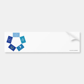 Flags of Micronesia and its States Bumper Sticker