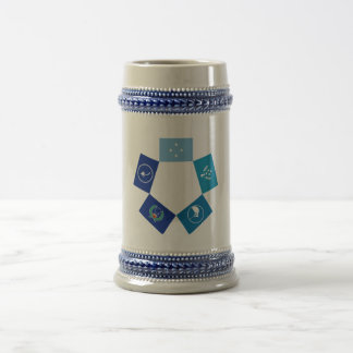 Flags of Micronesia and its States 18 Oz Beer Stein