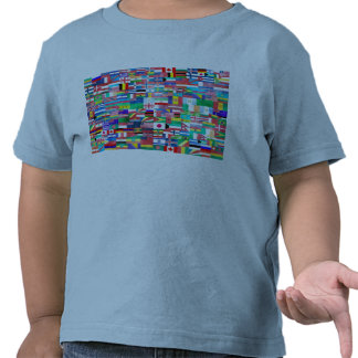 Flags of Nations Collage T-shirts