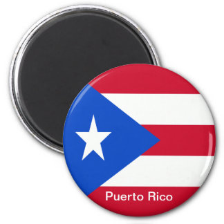 Flags of Puerto Rico 2 Inch Round Magnet