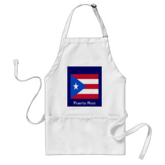 Flags of Puerto Rico Adult Apron