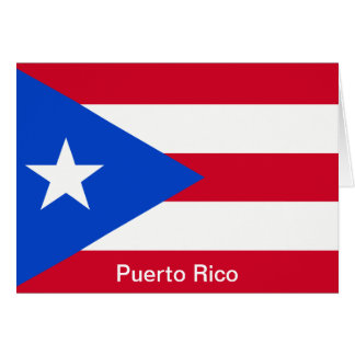 Flags of Puerto Rico Card