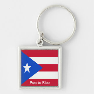 Flags of Puerto Rico Keychain