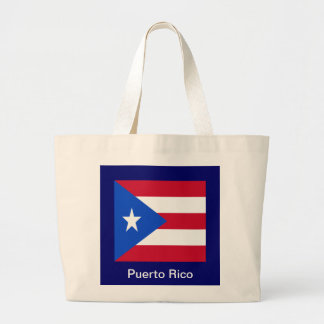 Flags of Puerto Rico Large Tote Bag