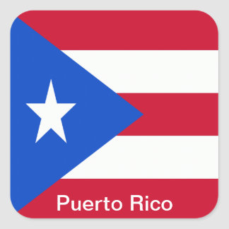 Flags of Puerto Rico Square Sticker