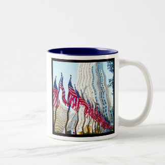 Flags of Rockefeller Center New York City Two-Tone Coffee Mug