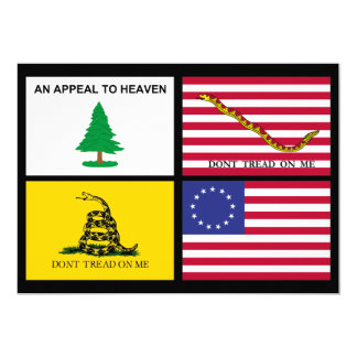 Flags Of The American Revolution Card