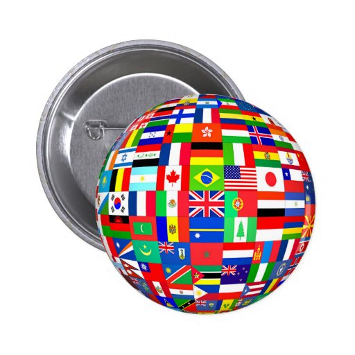 FLAGS OF THE GLOBE 2 INCH ROUND BUTTON