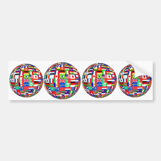 FLAGS OF THE GLOBE BUMPER STICKER