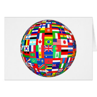 FLAGS OF THE GLOBE CARD