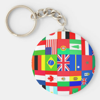 FLAGS OF THE GLOBE KEYCHAIN