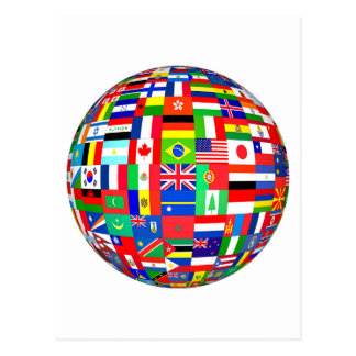 FLAGS OF THE GLOBE POSTCARD