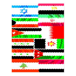 Flags of the Mideast Postcard