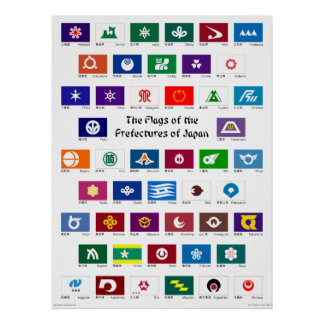 Flags of the Prefectures of Japan Posters