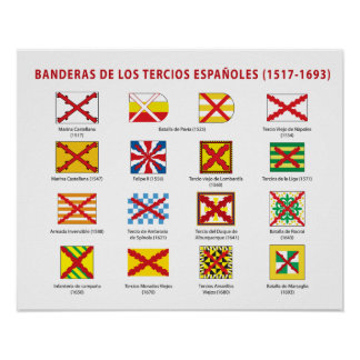Flags of the Spanish Thirds Poster