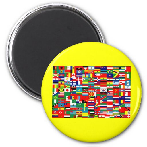 FLAGS OF THE WORLD 2 INCH ROUND MAGNET