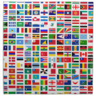 flags of the world against white napkin